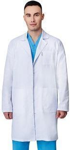 Медицинский халат мужской PULSE, на пуговицах, длинный рукав    ОПТОМ