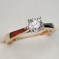 Золотое кольцо с бриллиантом 0.54Сt SI2/M EX-Cut