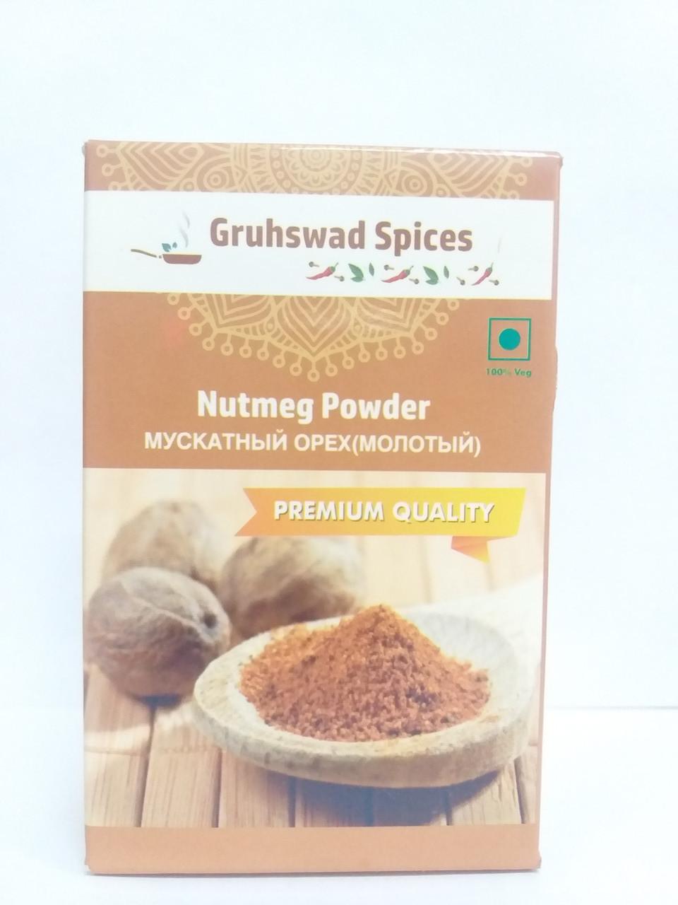 Мускатный орех молотый, 50 гр, Gruhswad Spices