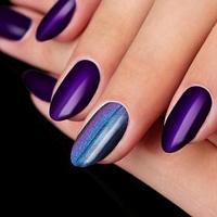 Втирка 'Магическая' для декора, с аппликатором, цвет фиолетовый