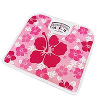 Механические напольные весы до 130 кг цветы розовые