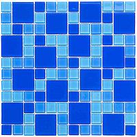 Мозаика стеклянная Aquaviva Cristall Dark Blue DCM305 (23 мм - 48 мм)