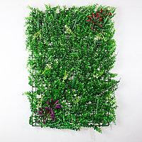Коврик Эвкалипт, Трава, Цветы искусственный, (L60см, W40см), зеленый