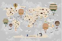 Фотообои карты мира