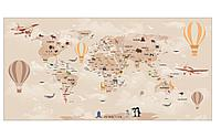 Фотообои карта мира бежевая
