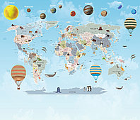 Фотообои карта мира, фото 1