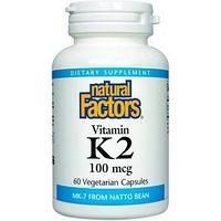 БАД витамин K2, 100 мкг, 60 вегетарианских капсул