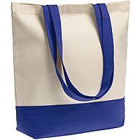 Сумка для покупок на молнии Shopaholic Zip, неокрашенная с синим