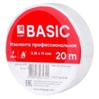 Изолента, класс В (общего применения), 0,13*15мм, 20м. EKF Basic