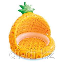 Бассейн детский Intex ананас надувной, 58414