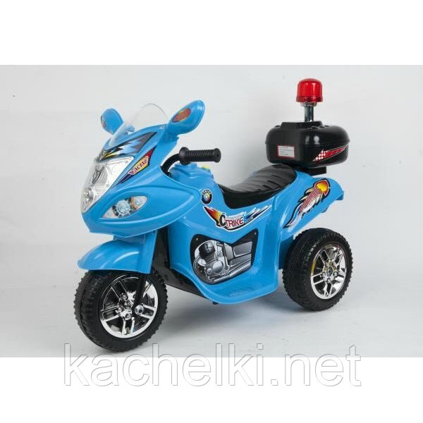 Мотоцикл Bugati на аккум. синий, свет+звук