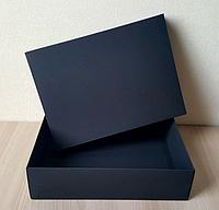 Коробка крышка-дно 23x17x3 см Черный