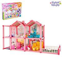 Домик для кукол двухэтажный Happy Valley с мебелью и аксессуарами {136 предметов}
