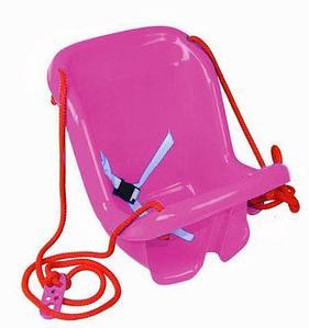 Качели детские подвесные со спинкой «Солнышко» (Розовый)