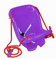 Качели детские подвесные со спинкой «Солнышко» (Фиолетовый)