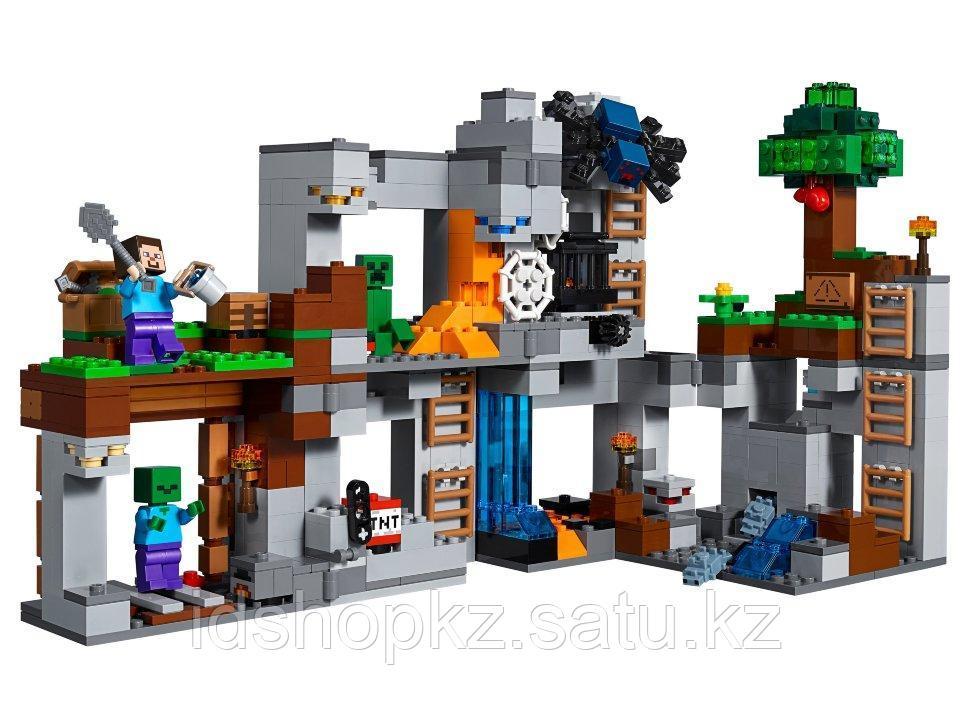Конструктор Майнкрафт Приключения в шахтах 664 деталей - фото 1
