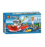 Конструктор Cities Пожарный катер 450 деталей
