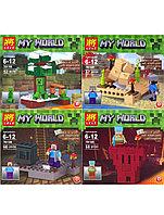 Конструктор LELE Minecraft MY WORLD compact 60 деталей