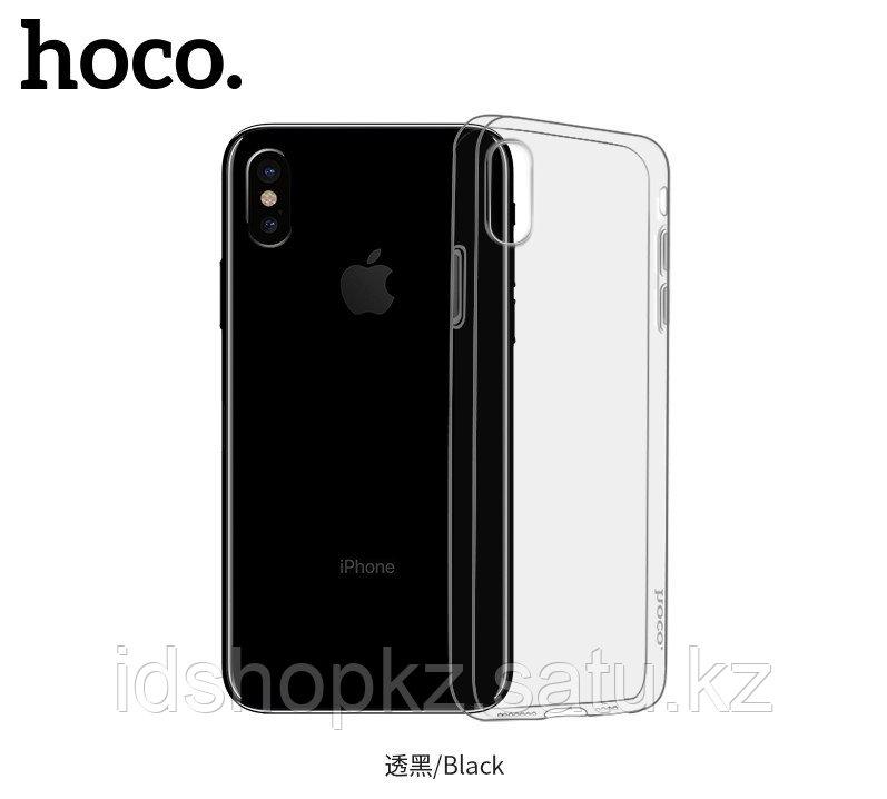 Чехол HOCO TPU Light Series для iPhone XS черный прозрачный, 0,8 мм - фото 3