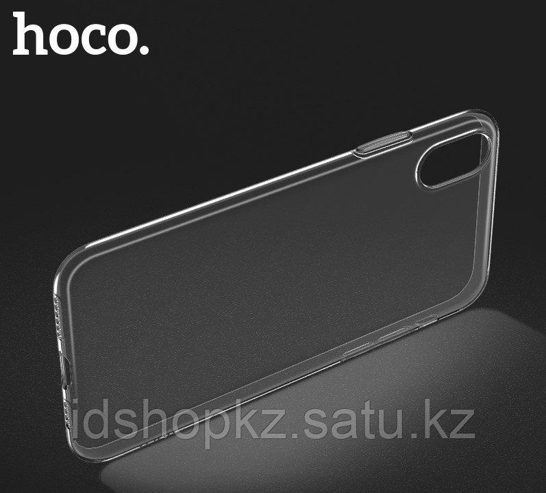 Чехол HOCO TPU Light Series для iPhone XS черный прозрачный, 0,8 мм - фото 5