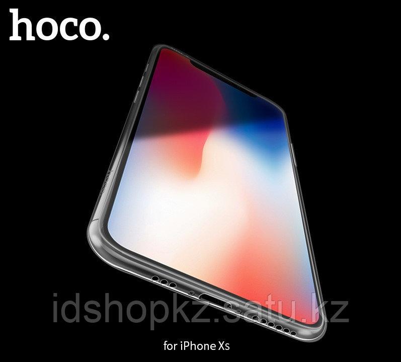 Чехол HOCO TPU Light Series для iPhone XS черный прозрачный, 0,8 мм - фото 6