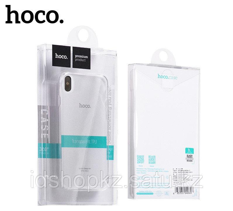 Чехол HOCO TPU Light Series для iPhone XS черный прозрачный, 0,8 мм - фото 7