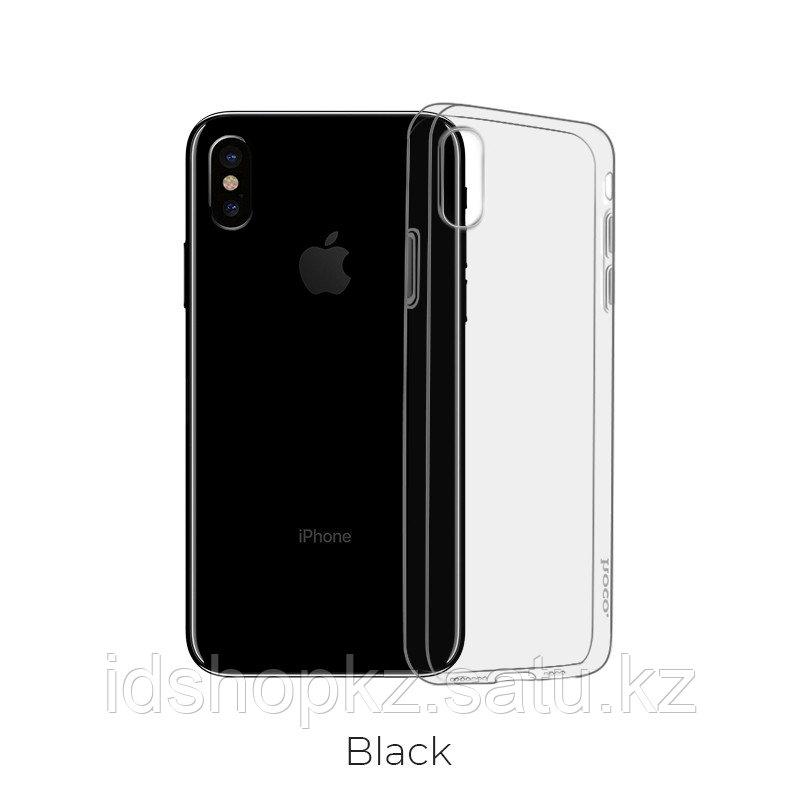 Чехол HOCO TPU Light Series для iPhone XR черный прозрачный, 0,8 мм - фото 1