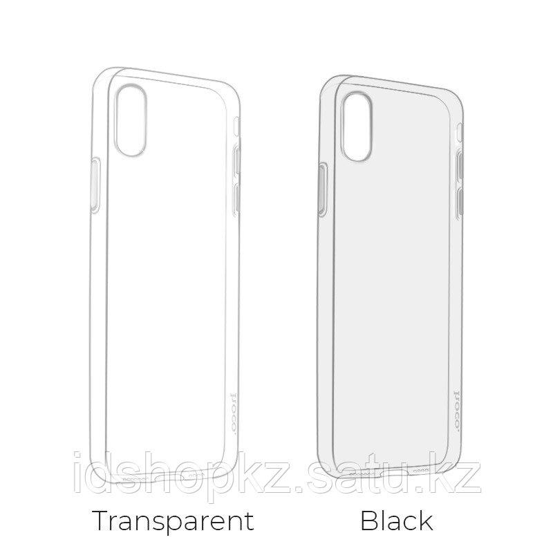 Чехол HOCO TPU Light Series для iPhone XR черный прозрачный, 0,8 мм - фото 9