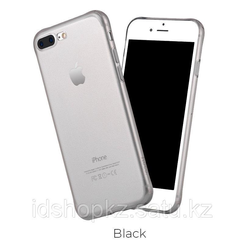 Чехол HOCO TPU Light Series для iPhone 7+ черный прозрачный, 0,7 мм - фото 1