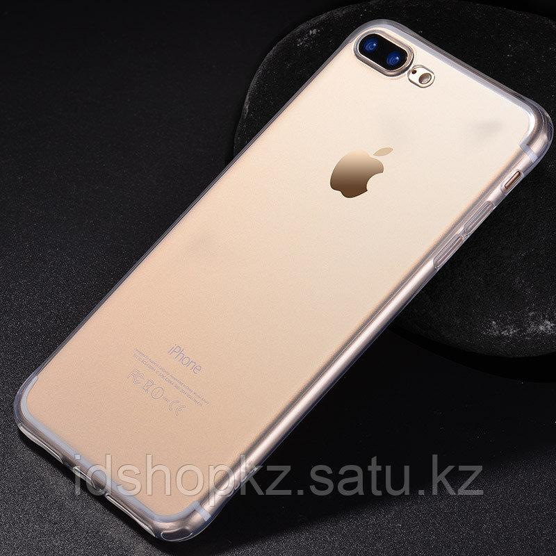 Чехол HOCO TPU Light Series для iPhone 7+ черный прозрачный, 0,7 мм - фото 3