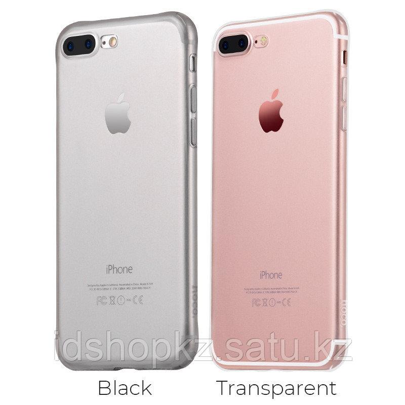 Чехол HOCO TPU Light Series для iPhone 7+ черный прозрачный, 0,7 мм - фото 4