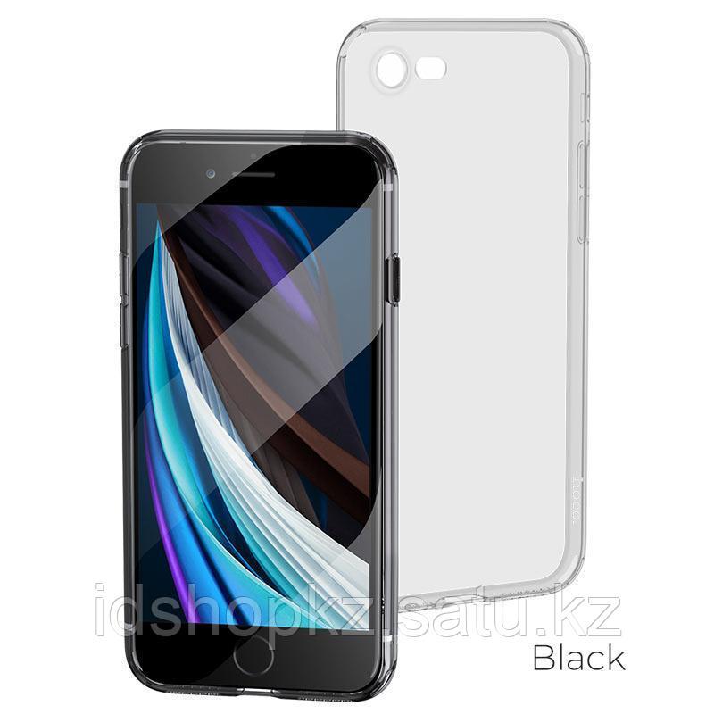 Чехол HOCO TPU Light Series для iPhone 7 черный прозрачный, 0,7 мм - фото 1
