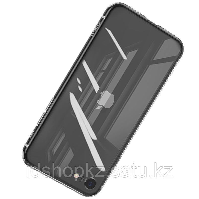Чехол HOCO TPU Light Series для iPhone 7 черный прозрачный, 0,7 мм - фото 2