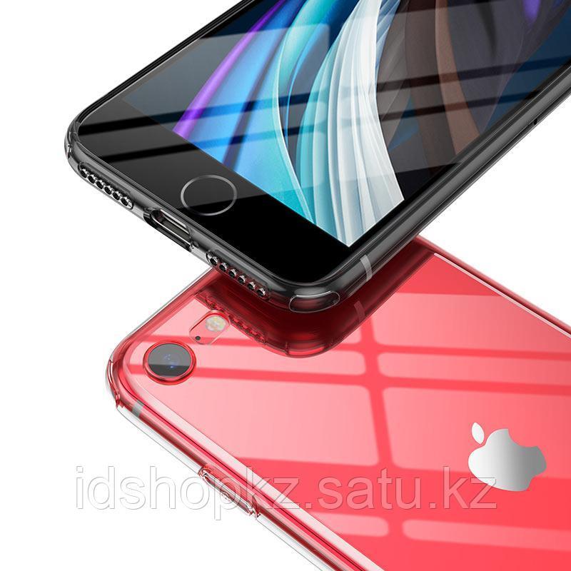 Чехол HOCO TPU Light Series для iPhone 7 черный прозрачный, 0,7 мм - фото 3