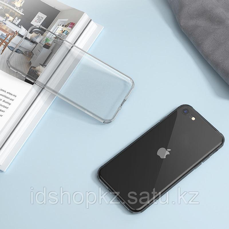 Чехол HOCO TPU Light Series для iPhone 7 черный прозрачный, 0,7 мм - фото 5