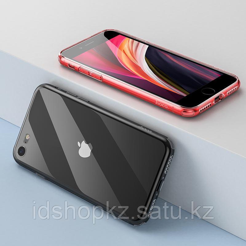 Чехол HOCO TPU Light Series для iPhone 7 черный прозрачный, 0,7 мм - фото 6