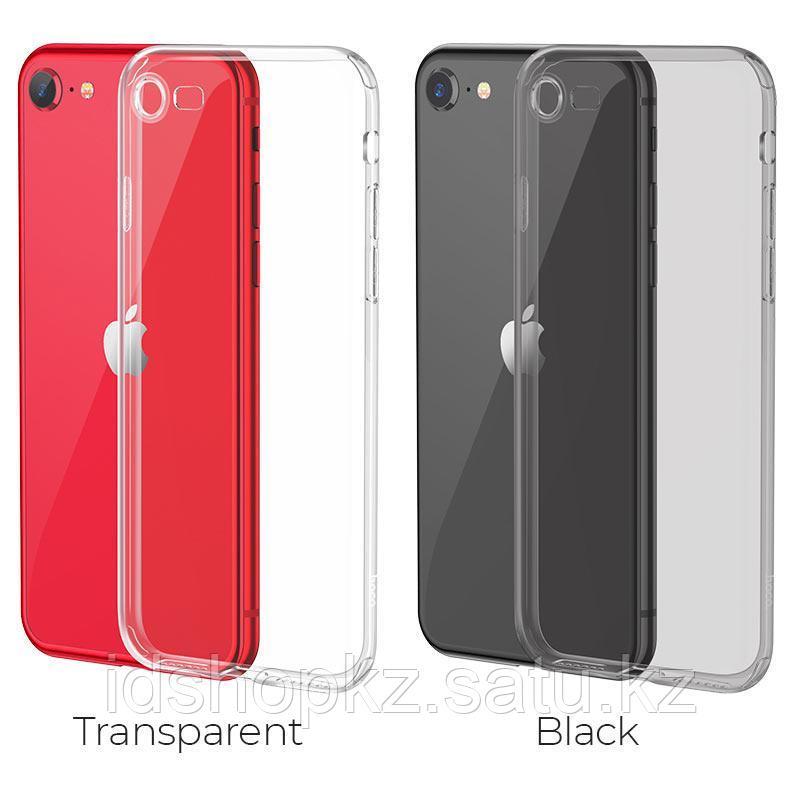 Чехол HOCO TPU Light Series для iPhone 7 черный прозрачный, 0,7 мм - фото 7