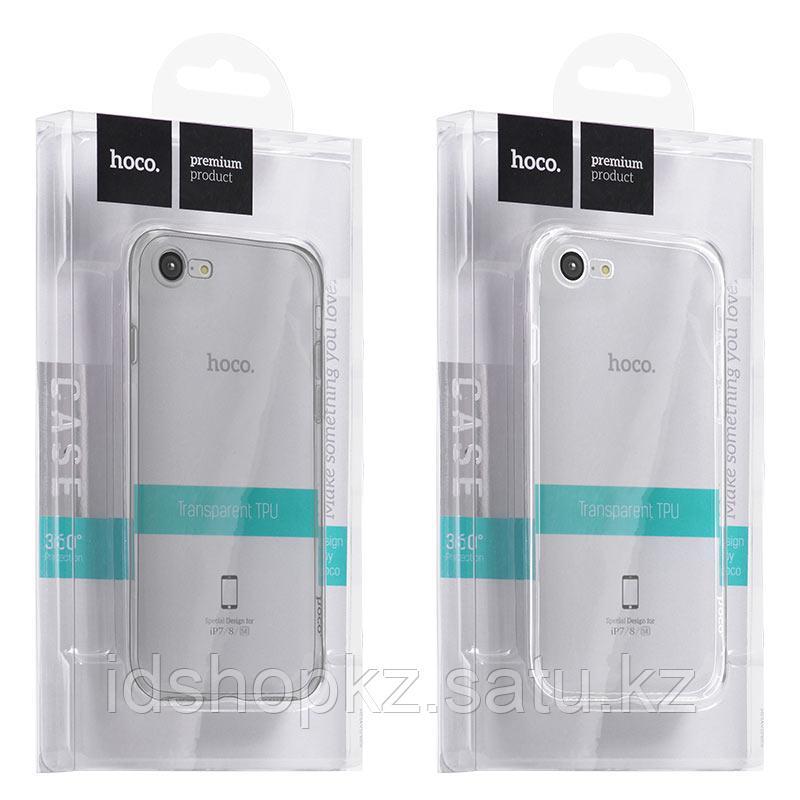 Чехол HOCO TPU Light Series для iPhone 7 черный прозрачный, 0,7 мм - фото 8