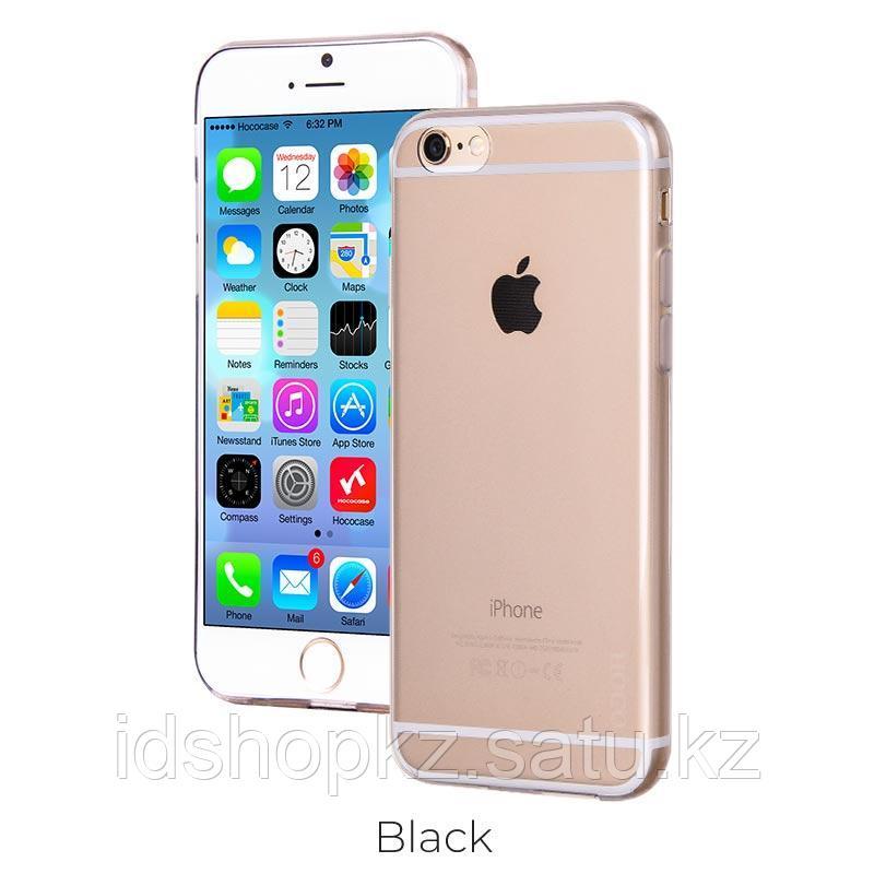 Чехол HOCO TPU Light Series для iPhone 6/6s, черный прозрачный, 0,6 мм - фото 1