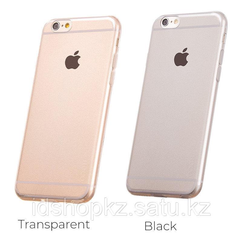 Чехол HOCO TPU Light Series для iPhone 6/6s, черный прозрачный, 0,6 мм - фото 5