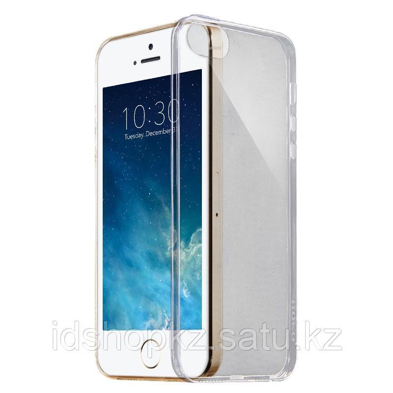 Чехол HOCO TPU Light Series для iPhone 5/5s/SE, черный прозрачный, 0,6 мм - фото 2