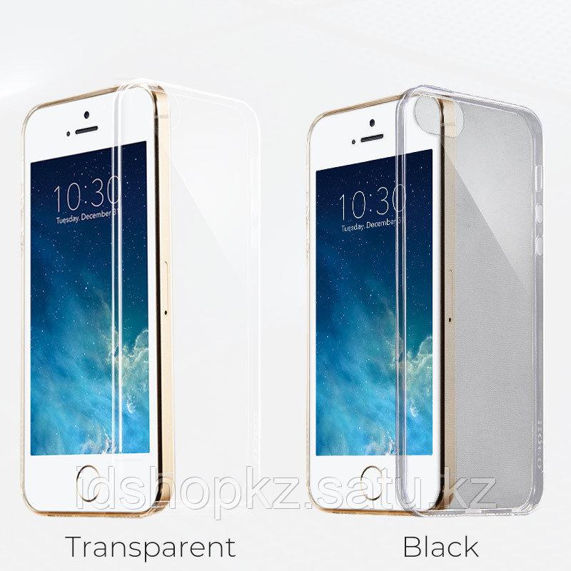 Чехол HOCO TPU Light Series для iPhone 5/5s/SE, черный прозрачный, 0,6 мм - фото 3