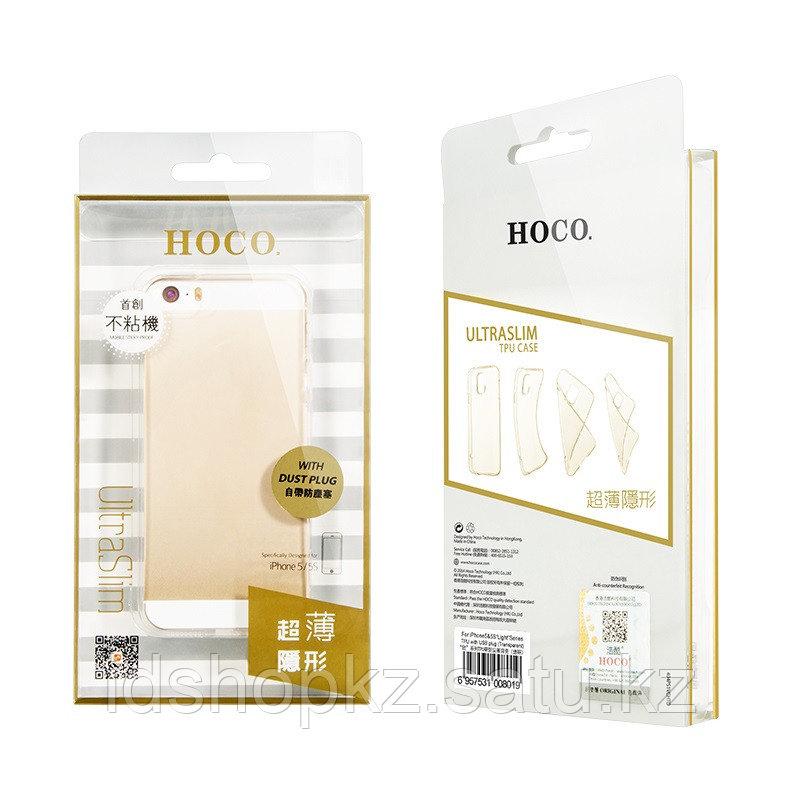 Чехол HOCO TPU Light Series для iPhone 5/5s/SE, черный прозрачный, 0,6 мм - фото 4