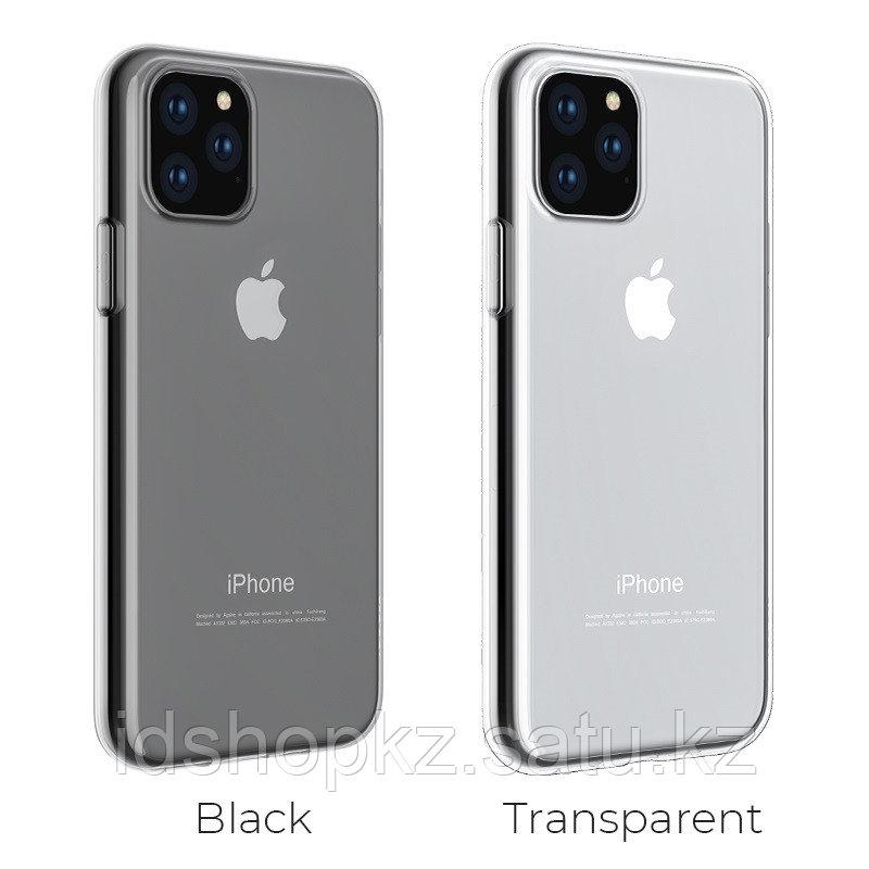 Чехол HOCO TPU Light Series для iPhone 11 Pro, черный прозрачный, 0,8 мм - фото 5