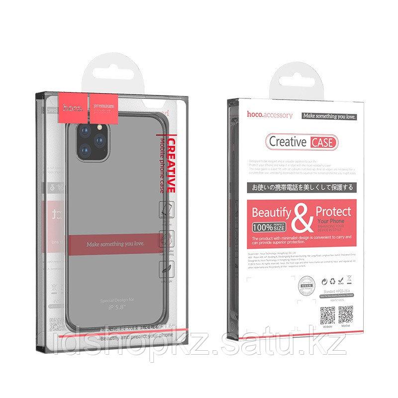 Чехол HOCO TPU Light Series для iPhone 11 Pro, черный прозрачный, 0,8 мм - фото 7