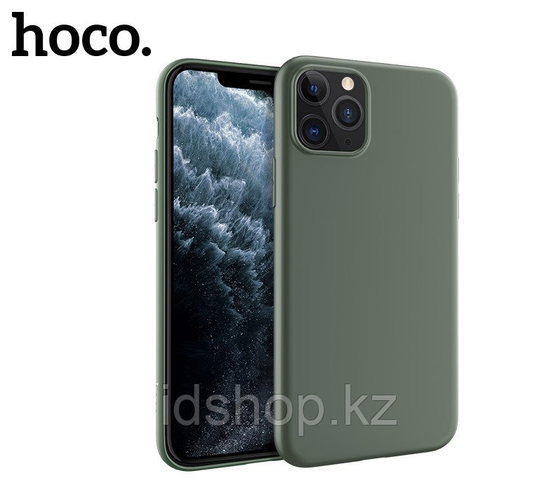 Чехол HOCO TPU Fascination Series для iPhone 11 Pro, Темно-зеленый, 0,8 мм - фото 1