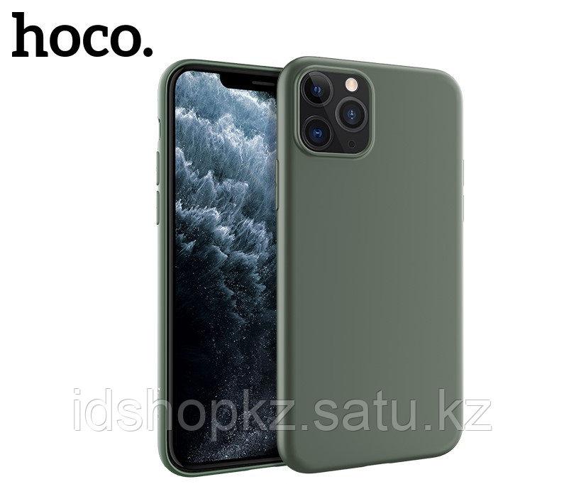 Чехол HOCO TPU Fascination Series для iPhone 11 Pro Max, Темно-зеленый, 0,8 мм - фото 1