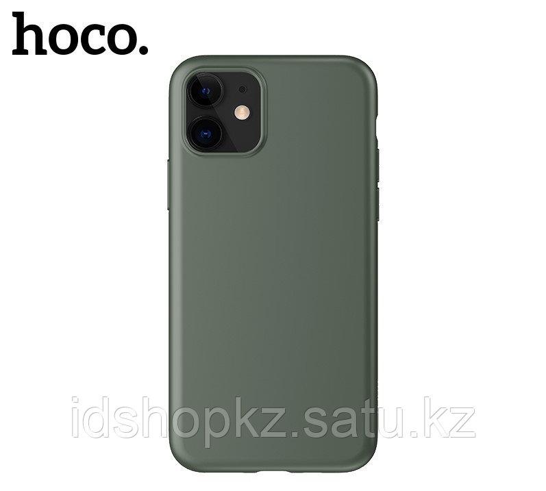 Чехол HOCO TPU Fascination Series для iPhone 11 Pro Max, Темно-зеленый, 0,8 мм - фото 3