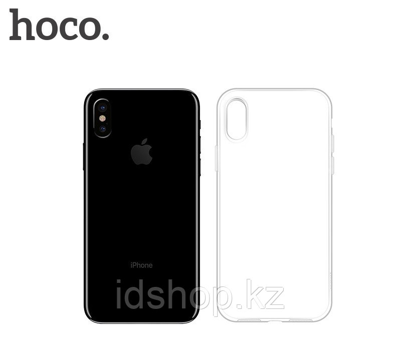 Чехол HOCO TPU Crystal clear Series для iPhone X прозрачный, 0,8 мм - фото 2