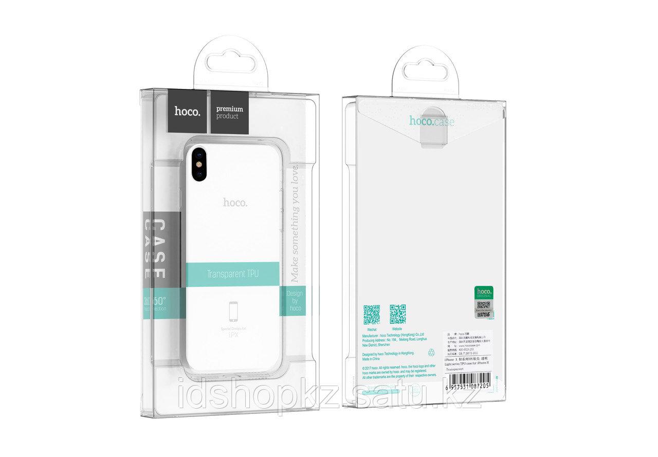 Чехол HOCO TPU Crystal clear Series для iPhone X прозрачный, 0,8 мм - фото 6